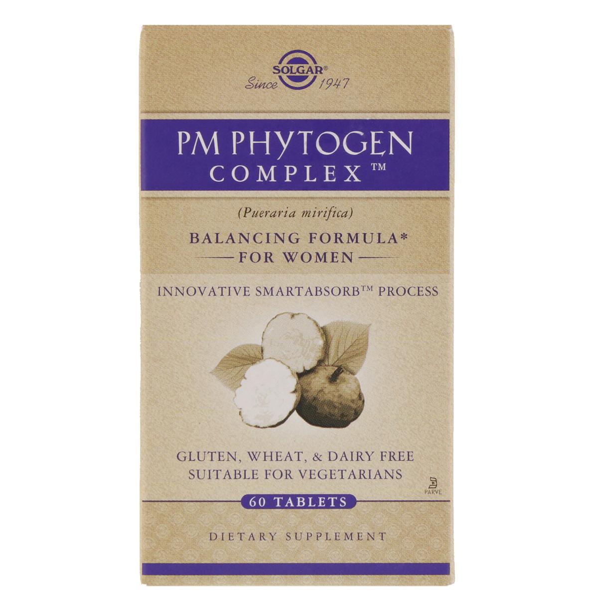 Менопауза Комплекс для Женщин, PM Phytogen Complex, Solgar, 60 таблеток