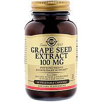Экстракт Виноградных Косточек, Grape Seed Extract, Solgar, 100 мг, 60 капсул