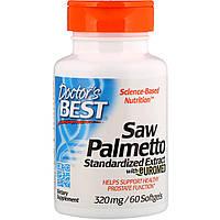 Со Пальметто, Экстракт, Saw Palmetto,  Doctor's Best, 320 мг, 60 капсул