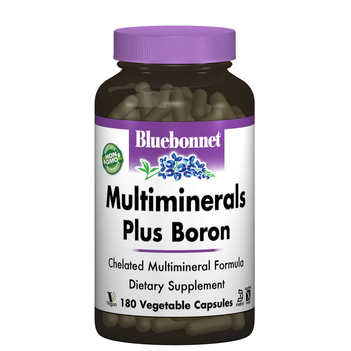 Мультиминералы + Бор с Железом, Bluebonnet Nutrition, 180 гелевых капсул