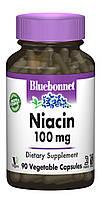 Ниaцин (В3) 100 мг, Bluebonnet Nutrition, 90 гелевых капсул