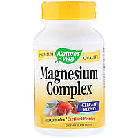 Магний Цитрат, Magnesium Complex, Nature's Way, 100 капсул