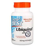 Убихинол, Ubiquinol with Kaneka, Doctor's Best, 100 мг, 60 желатиновых капсул