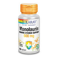 Монолаурин, Monolaurin, Solaray, 500 мг, 60 вегетарианских капсул