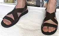 Мужские кожаные коричневые сандалии Diesel casual !, фото 1