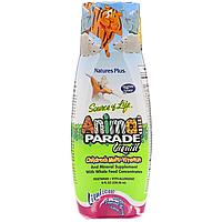 Жидкие Детские Мультивитамины, Тропический вкус, Animal Parade Gold, Nature's Plus, 236 мл