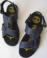 Мужские босоножки Timberland синие кожаные сандали сандалии обувь лето, фото 1