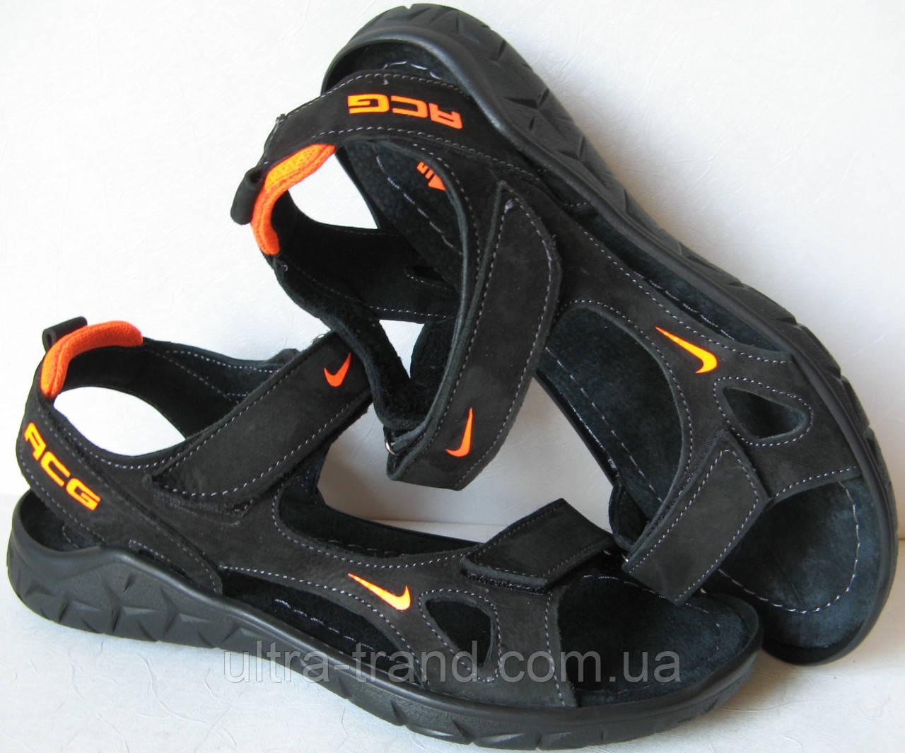 Жесть Nike! Кожа мужские сандалии босоножки сандали найк сандалі обувь