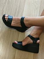 Босоножки стиль Kelton!  женские кожа натуральная на платформе танкетке келтон, фото 1