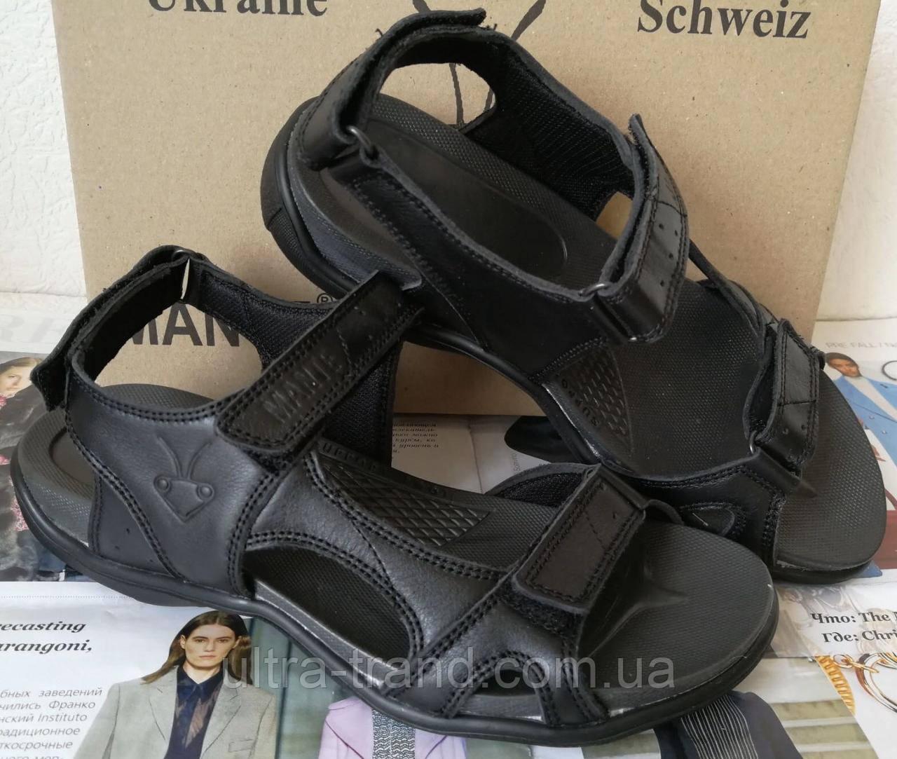 Манте xbiom Супер! Женские сандалии летние из натуральной кожи босоножки черного цвета