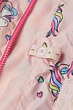 Розовая детская ветровка с единорогами НМ для девочки, фото 3