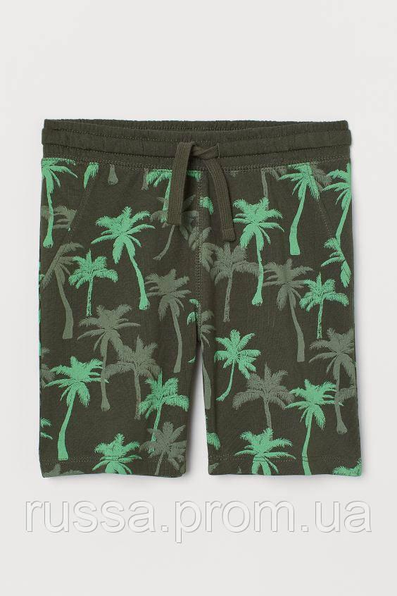 Летние хлопковые шорты с пальмами НМ для мальчика