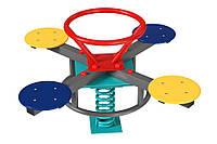 Спортивно-игровая Качалка Карусель на пружине для детей от 3 лет для уличных детских площадок 103х103х79 см