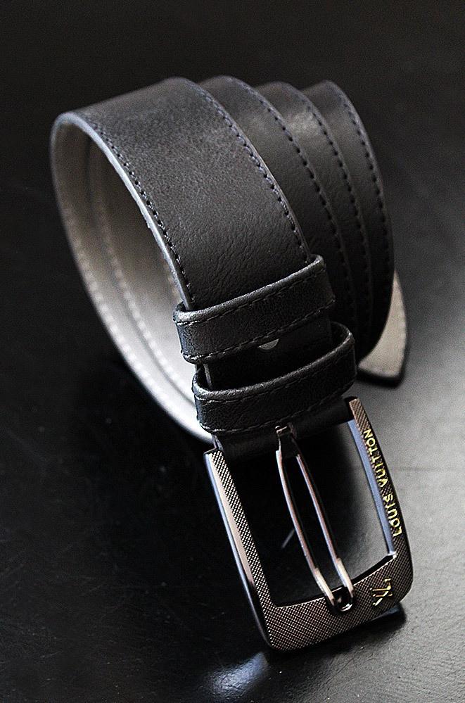 Ремень мужской черный 115см