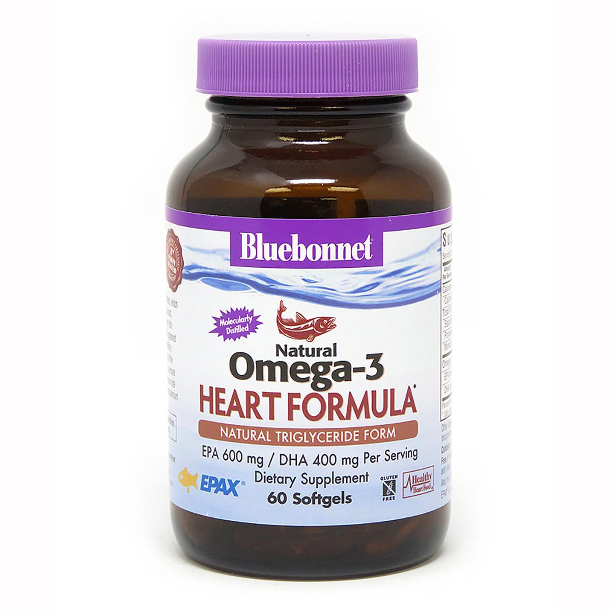 Омега-3 Формула для Сердца, Bluebonnet Nutrition, Omega-3 Heart Formula, 60 желатиновых капсул