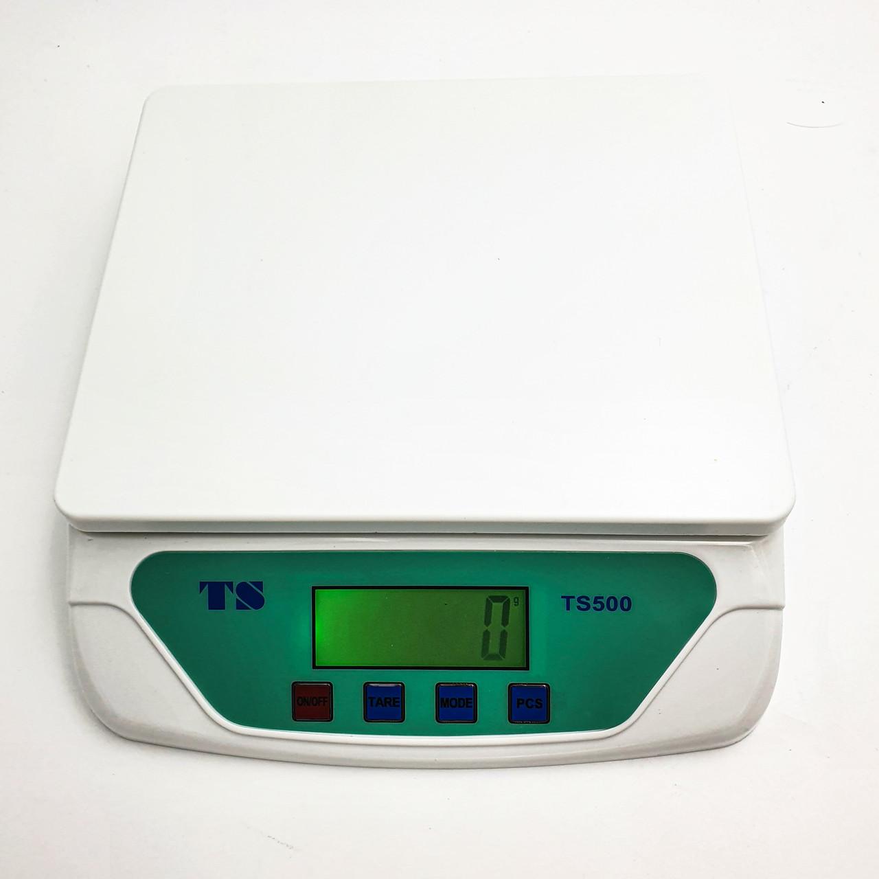 Весы универсальные для торговли фасовки кухни взвешивание до 30 кг деление 1 г UKC TS-500 белый