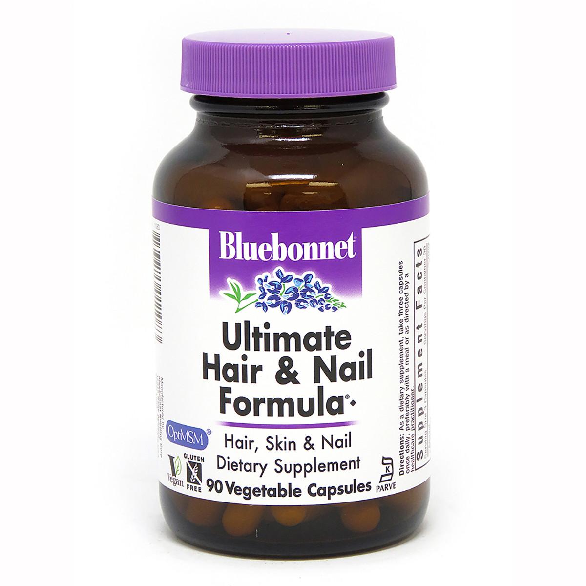 Окончательная Формула для Волос и Ногтей, Bluebonnet Nutrition, 90 гелевых капсул