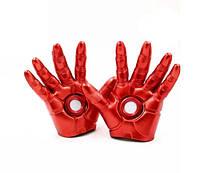 Перчатки железного человека со светодиодами косплей Iron Man 19см в подарочной упаковке