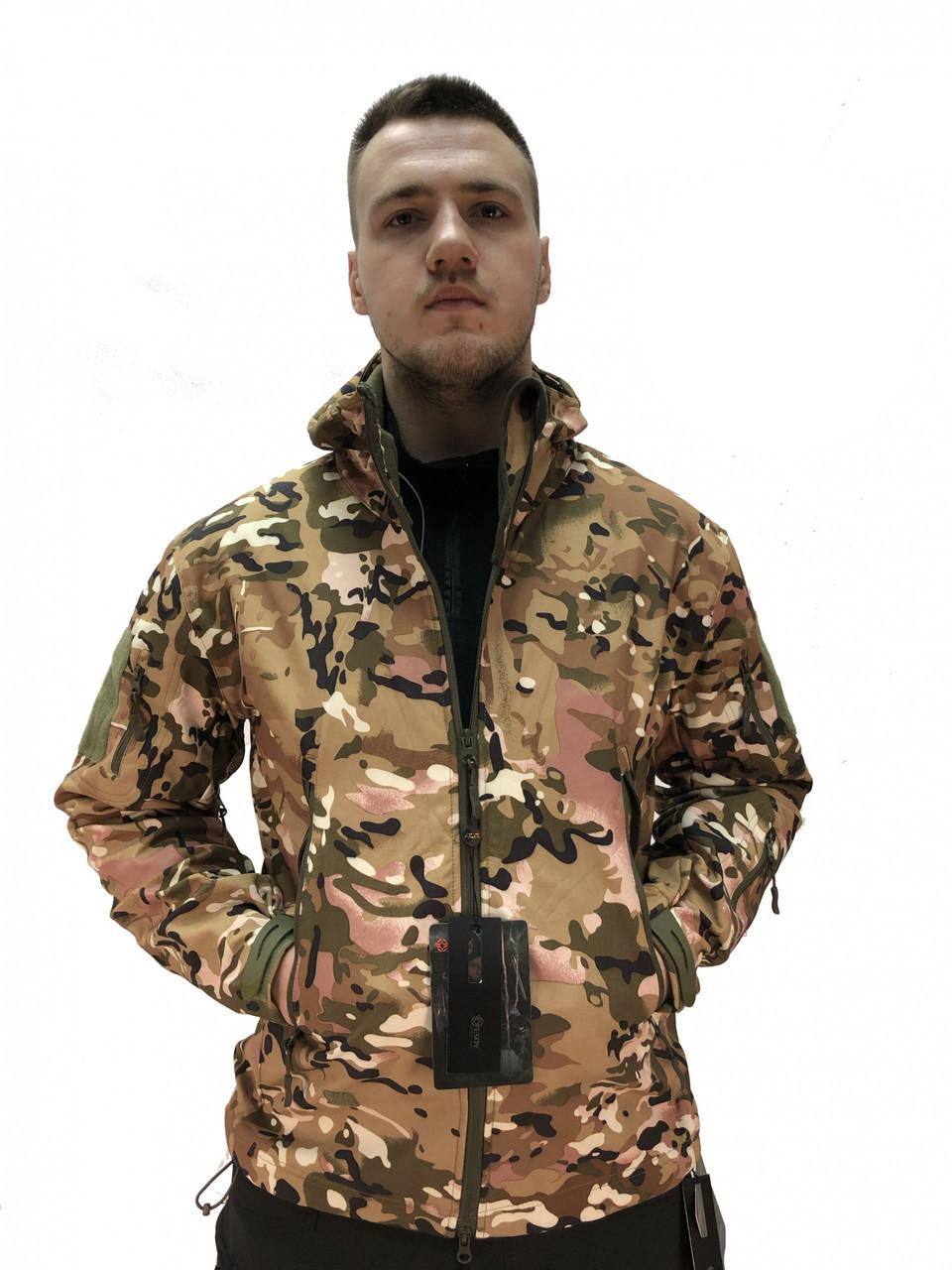 Куртка тактична Softshell Shark Skin 01. ESDY. Мультикам