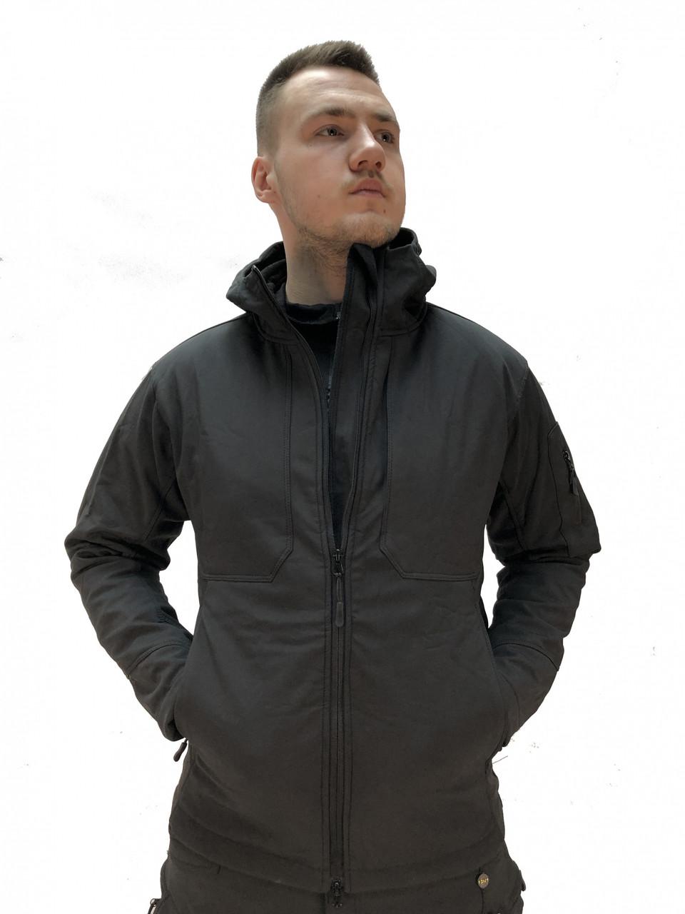 Ліквідація! Знижка. Останні розміри. Тактична куртка Softshell Urban 03. ESDY. 2 внутр кармани. Чорна