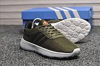 Кроссовки летние мужские Adidas NEO в стиле Адидас Нео, текстиль, код TD-9135. Зеленые