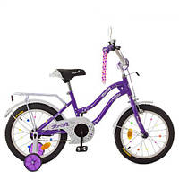 Велосипед детский PROF1 18д. XD1893 Star, фиолетовый,свет,звонок,зерк.,доп.колеса, фото 1