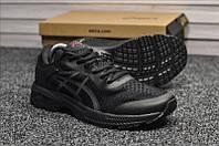 Кроссовки летние мужские Asics Gel-Kayano 25 в стиле Асикс, текстиль код TD-9138. Черные
