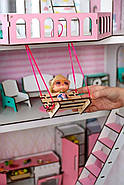 """Игровой набор """"Большой Особняк для LOL/OMG/Барби"""" кукольный домик NestWood с мебелью и аксессуарами, фото 3"""