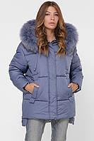 """Женская зимняя куртка джинсового цвета """"48"""" (19200.1.1)"""