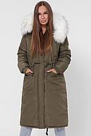 """Женская зимняя куртка хаки """"44"""" (19205.1.1)"""