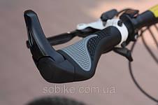 """Эргономичные велосипедные грипсы с алюминиевыми рожками """"45"""" Белый, фото 2"""