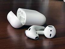 Беспроводные наушники Airpods 2 с зарядным боксом +зарядный USB - micro USB кабель, фото 2