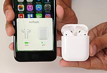 Беспроводные наушники Airpods 2 с зарядным боксом +зарядный USB - micro USB кабель, фото 3