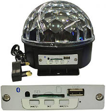 Диско шар Led Magic Ball Light YPS D50 Лед Меджик Бол Лайт с радио и MP3 Original size Светомузыка, фото 3