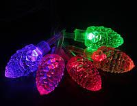 Гирлянда Шишки LED 28 мульти