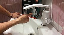 Проточный мгновенный  электрический водонагреватель на кран DB-244 3Kw для горячей воды, фото 2