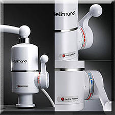 Проточный мгновенный  электрический водонагреватель на кран 3Kw, фото 2