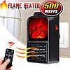 Мини камин обогреватель Flame Heater комнатный с пультом управления 500 Вт, фото 4