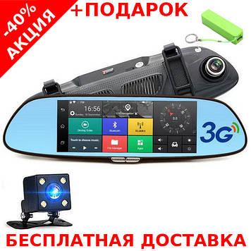 """D35 / K35 DK35 Зеркало заднего вида регистратор 7"""" 2 камеры GPS навигатор"""
