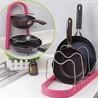 Стойка для сковородок Frying Pan Rack Color №B52 розовая