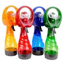 Портативный ручной мини вентилятор с пульверизатором Water Spray Fan, фото 3
