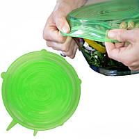 Силиконовые универсальные крышки Super stretch silicone lids зеленые