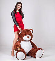 Большая мягкая игрушка мишка Yarokuz Билли 150 см Шоколадный