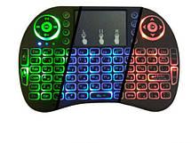 Беспроводная клавиатура с белой подсветкой джойстик, тачпад, для Smart TV Wireless Keyboard 2.4GHz, фото 2