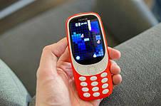 Кнопочный мобильный телефон Nokia 3310 Original size 2 sim карты, 1200 Mah, фото 3