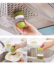 Щетка для мытья посуды JESOPB с дозатором для моющего средства, фото 3