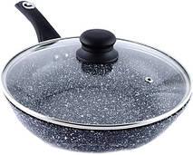 Глубокая сковорода с крышкой Benson BN-520 (28*8 см), фото 3