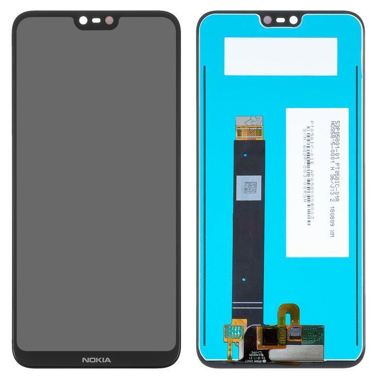 Дисплей (екран) для Nokia 6.1 Plus (TA-1103) з сенсором (тачскріном) черный