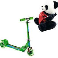 Детский Самокат Scooter 997, Складной Руль + Подарок Мишка M