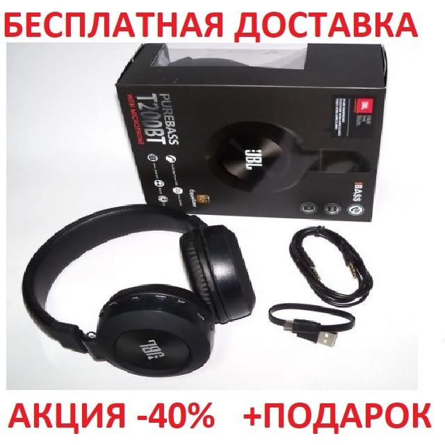 Беспроводные наушники JBL T200BT WHITE MP3+FM+Эквалайзер  Блютуз Вкладыши беспроводная